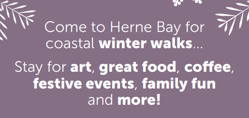 Hello herne bay winter graphic advert