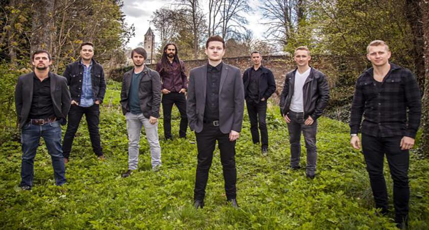 Image of the eight members of Skerryvore