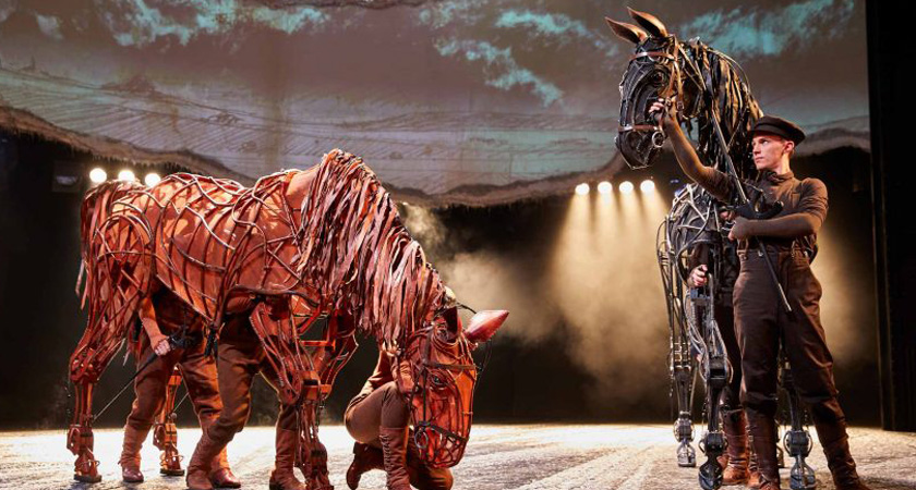 Picture from performance of War Horse
