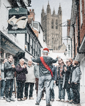 Daily guided tour with a festive twist