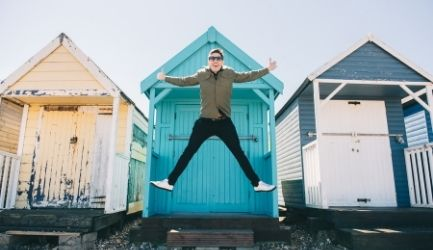 Herne Bay SIK beach hut jump boy Content unboxed canterbury tales homepage 2