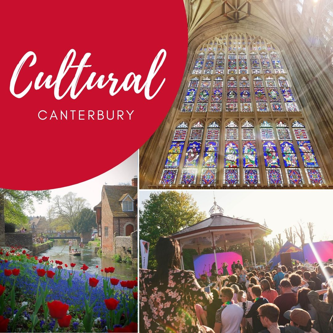 Visit canterbury welcome tile