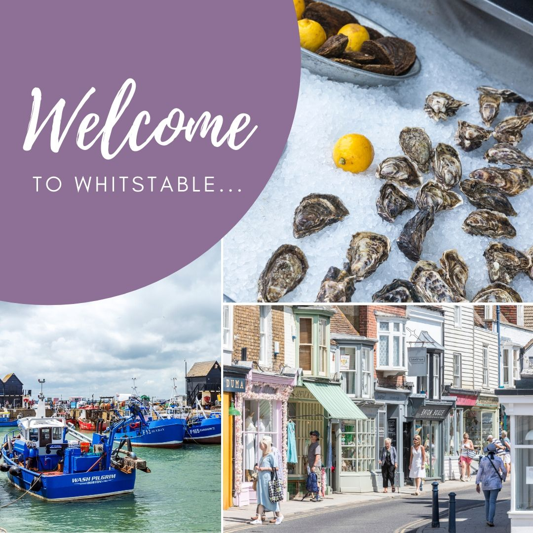 Visit canterbury Whitstable welcome tile