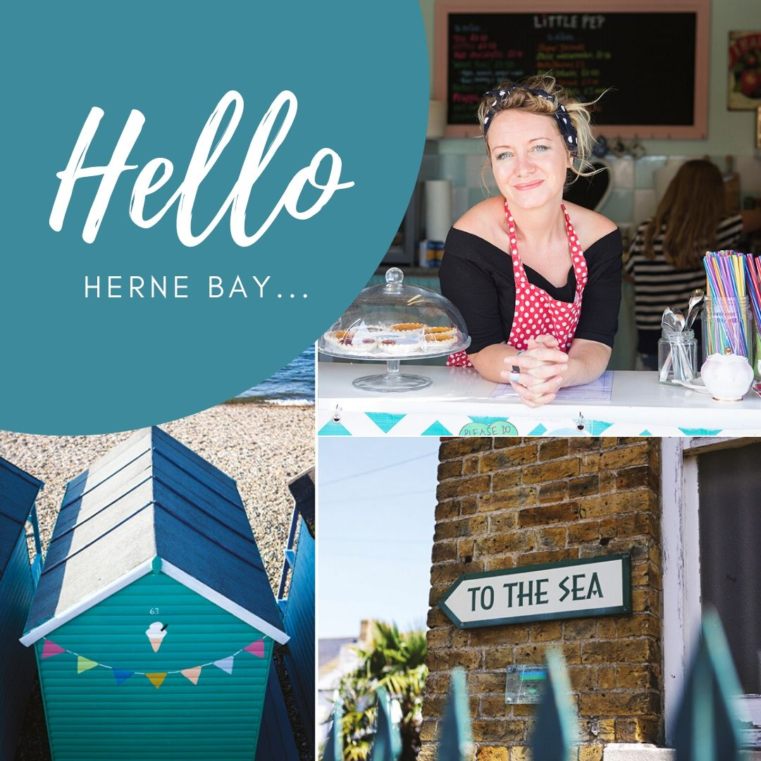 Visit canterbury Herne Bay welcome tile